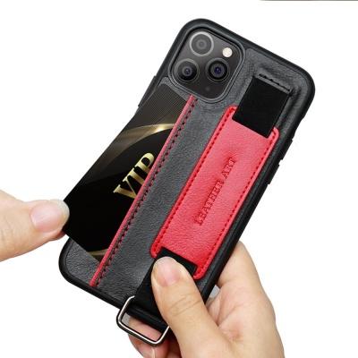 아이폰11 PRO MAX 카드수납 핸드 스트랩 가죽 케이스