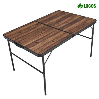 로고스 블랙 우드 와이드 접이식 테이블 1200