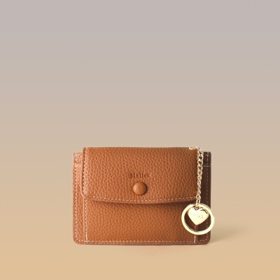 [이니셜 커스텀] Big pocket point wallet _ Brown