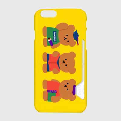 Smart bear friends-yellow(카드수납케이스)