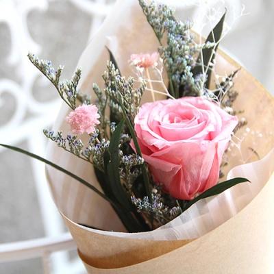 프리저브드플라워-한송이장미꽃다발
