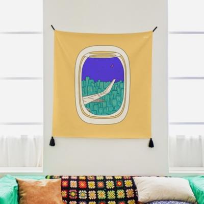 비행기 일러스트 패브릭 포스터 / 가리개 커튼