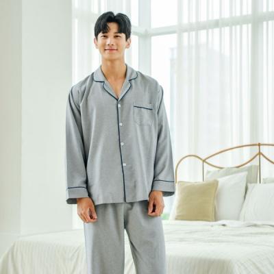 [쿠비카]포켓 솔리드 카라넥 남성잠옷 M148