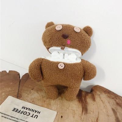 에어팟 1/2/3 프로 단추 곰 인형 케이스 카라비너SET