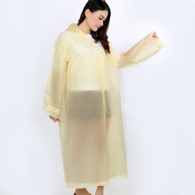 레이니 도트무늬 우비/ 코트형우의 비옷