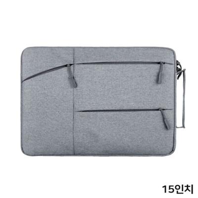 여성 예쁜 수납 파우치 노트북 가방 케이스 15 그레이