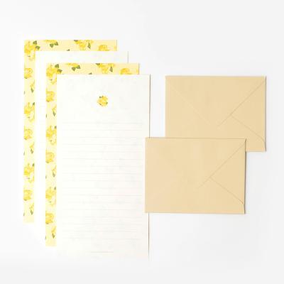 프레그런트 미니 편지지 세트 - Yellow rose