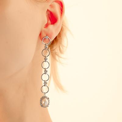j-e27 ring crystal pearl earring