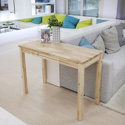 긴 다리 테이블 거실사이드테이블 원목책상