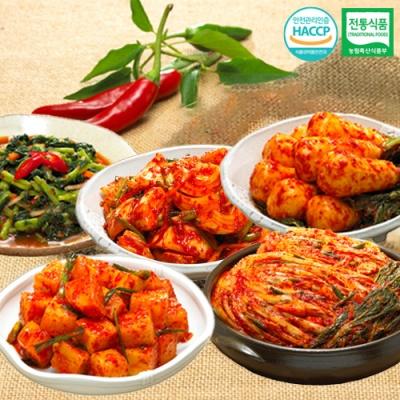 포기김치+깍두기+총각김치+열무김치+양파김치x각1kg