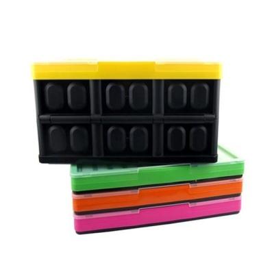 폴딩박스 (오렌지) 접이식 상자 생활용품 차량적재함
