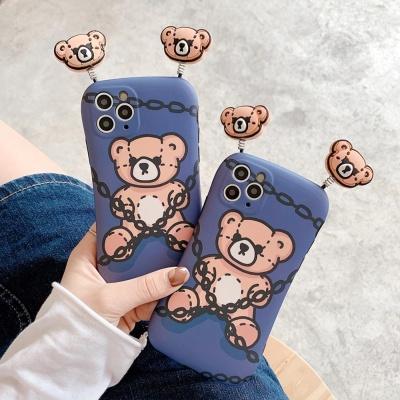 아이폰12 11 pro max xs 8 입체 곰돌이 실리콘 케이스