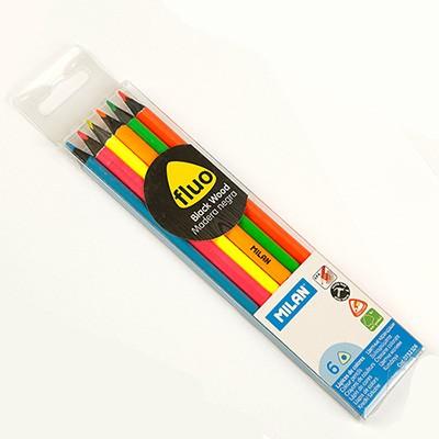 밀란 fluo Black Wood색연필