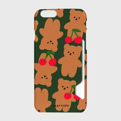 Dot cherry big bear-green(카드수납케이스)