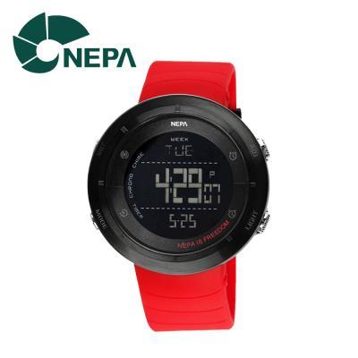 네파 남성용 아웃도어 디지털 시계 N338A-RED 레드