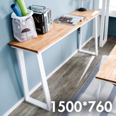 차 한잔의 여유 원목 테이블 1500x760
