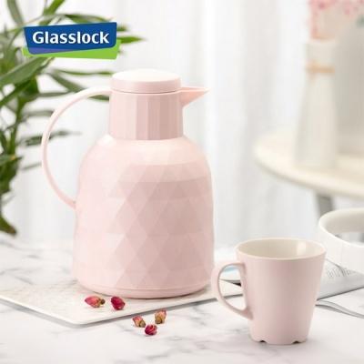 글라스락 보온 보냉주전자 1000ml (핑크)