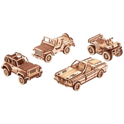 [3D퍼즐마을][우드트릭] WT026 자동차 세트