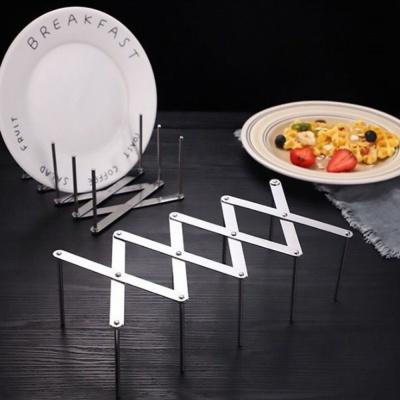 간편한 사용법 접시 그릇 다용도 수납 스틸 선반