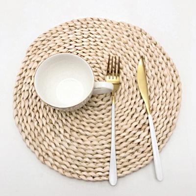 플레이팅 라탄식 식탁 매트 40cm 원형 테이블매트