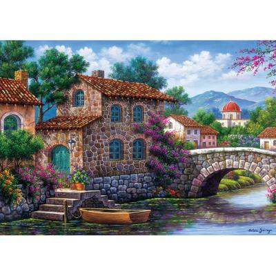 500피스 직소퍼즐 - 꽃과 운하
