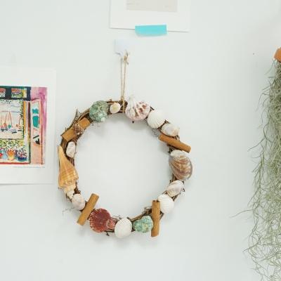 DIY 조개 리스 여름 소품 만들기