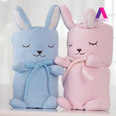 토끼 극세사 무릎 담요