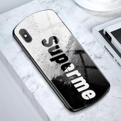 아이폰 11 pro max xr xs 7 8+ 슈프림 강화유리케이스