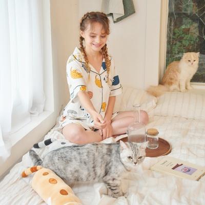 [오끼뜨] 집사님 고양이 파자마세트 (반팔 / 긴팔)