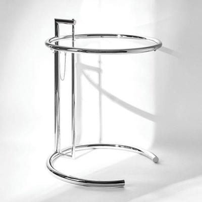 높이조절 철제 유리판 거실 소파 원형 사이드 테이블