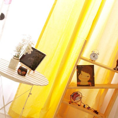coloration metal ring curtain - yellow S(100cm*150cm)