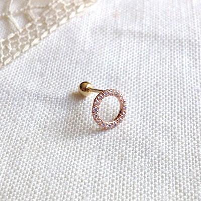 14K gold simple donut piercing