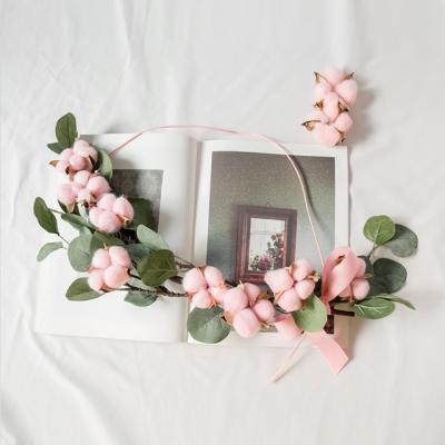 [DIY키트] 핑크목화 유칼립투스 가랜드만들기