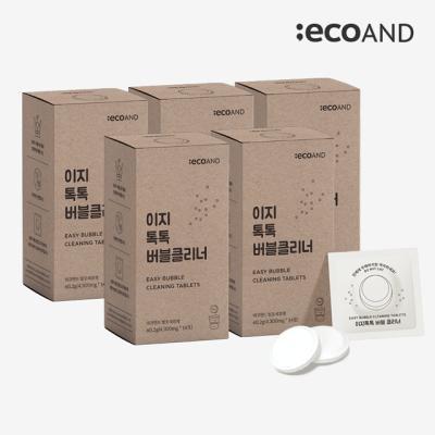 [에코앤드]이지톡톡 버블클리너 1종세척제 5Box(70포)