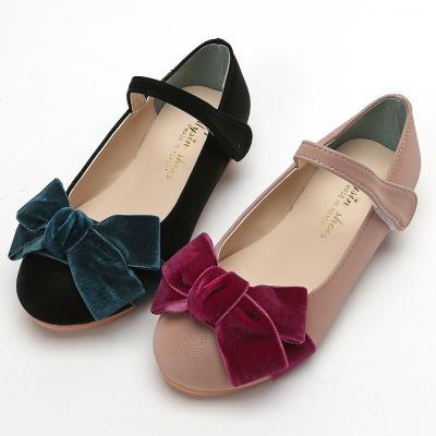 마미 벨벳왕리본 160-210 유아 아동 여아 구두 신발