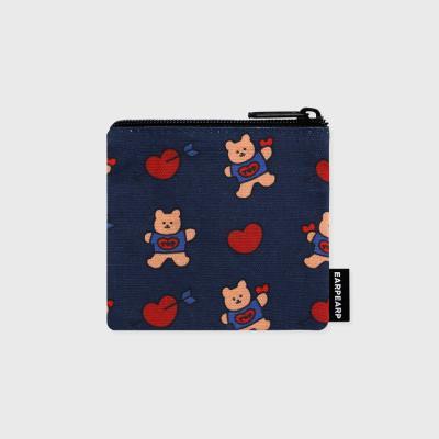 Bear heart-navy(미니 파우치)