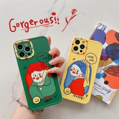 아이폰 12 11 미니 pro max 디자인 소녀 소프트케이스