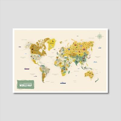세계지도 아트프린트 에디션 no. 0002