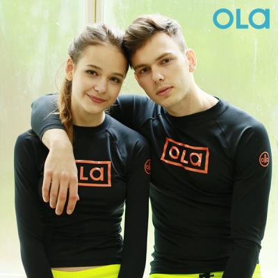 [OLA]올라 커플 세트 래쉬가드 블랙 OTC002 수영복/서핑