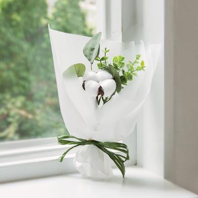 유칼립투스 목화미니꽃다발