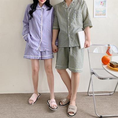 Jenny Check Pajama Set - 커플룩