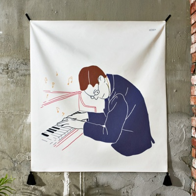 재즈 패브릭 포스터 / 가리개 커튼