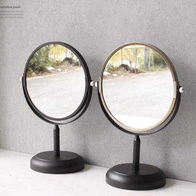 [2HOT] 스탠드 블랙 골드 거울 (5730)