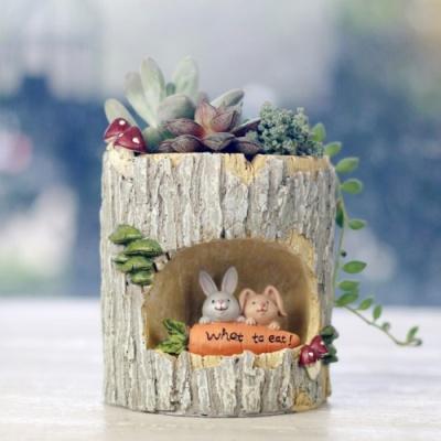 ROOGO 루고화분 나무속 휴식 토끼