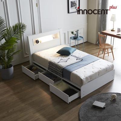 [이노센트] 리브 라이젠 LED 멀티수납형 침대 SS