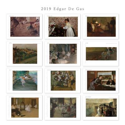 [2019 명화 캘린더] Edgar De Gas 에드가 드가 Type A