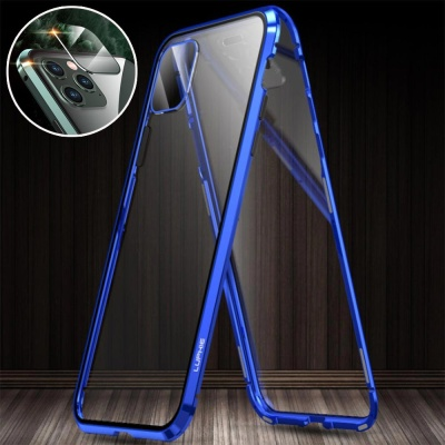아이폰 XR XS MAX 렌즈보호 메탈 자석 풀커버 케이스