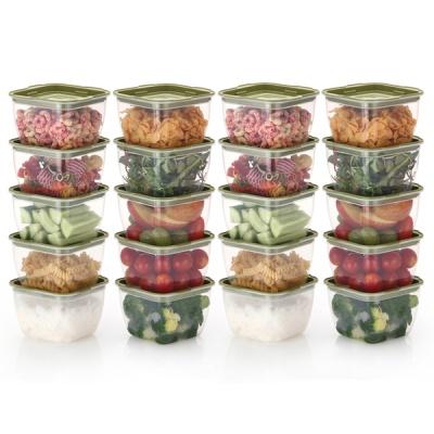 한끼밥 냉동밥 전자렌지용기 400ml 20개(그린)
