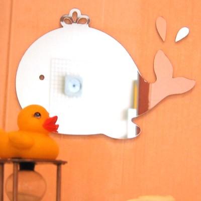 월미러- 왕관고래와 물방울