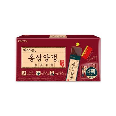 크라운 짜먹는 홍삼 양갱 4팩 (20개입)